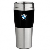 BMW Travel Mug with Black Band - 410ml