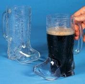 Clear Plastic Cowboy Boot Mugs