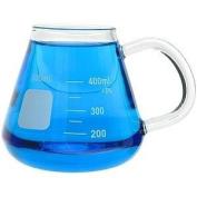Glass Erlenmeyer Mug - 400ml