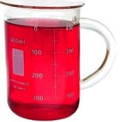 400ml Glass Beaker Mug with Handle 13.5oz