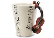 Violin Handmade Coffee Mug