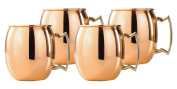 Old Dutch Solid Copper Moscow Mule Mug, 710ml, Set of 4