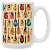 Guitars - Acoustic 440ml Ceramic Coffee Mug