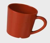 Excellante Crimson Melamine Collection 7.9cm Mug/Cup, 210ml, Pure Red, 12-Piece