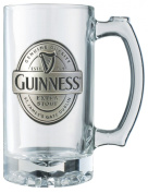 Guinness label tankard with pewter logo.