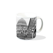 Doctor Who Classic 1960s Cybermen from Invasion on St. Pauls steps - Ceramic Mug