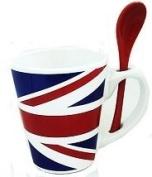 Elgate Union Jack Mug And Spoon
