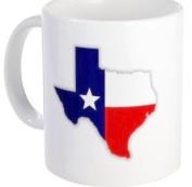 Show Love for TEXAS US State Flag 330ml Ceramic Coffee Cup Mug