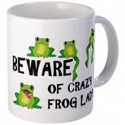 Beware of Crazy Frog Lady Coffee Mug Mug by CafePress