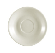 CAC China REC-36 Rolled Edge 11.4cm Stoneware Saucer, American White, Box of 36