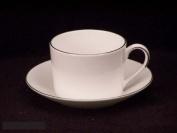 Vera Wang China Ivory Trellis Cups & Saucers