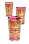 Moroccan Tea Glasses Red Tunis