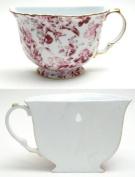 Porcelain Tea Cup Wall Pocket - Red Floral-01-57520R