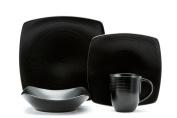 Red Vanilla Black Rice 16-Piece Dinnerware Set