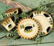 Black Bear Forest Dinnerware Set - 16 pcs