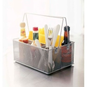 Mesh Condiment Caddy-Silver