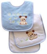 Neat Solutions Appliqued Thank Heaven Cotton Pique/ Knit Terry Bib and Burpcloth Set, Boy