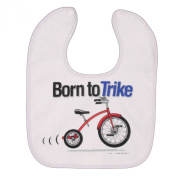 Born To Trike Snap Baby Bib