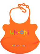 Mommys Helper Bib with Crumb Catcher, Uh-Oh Collection