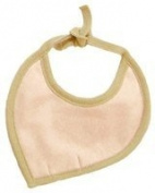 Sckoon Organic Cotton Leaf Shaped Bib Rose Tan - One Size