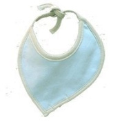 Sckoon Organic Cotton Leaf Shaped Bib Blue - One Size