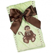 Baby's Monkey Burp Cloth - Bearington Baby Giggles
