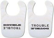 *Twin Baby bibs* 'Double Trouble' bibs
