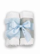 Baby's Blue Burp Cloth Set - S/2