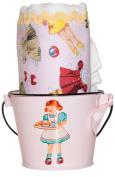 Retro Paper Dolls Burp Cloth & Bucket