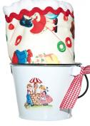 Retro Candy Kids Boy Burp Cloth & Bucket