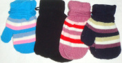 Set of Four Pairs of One Size Magic Mittens for Infants for Ages 0-12 Months