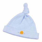 Piyo Piyo Single Knot Knit Hat, Blue