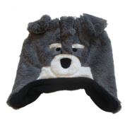 Faded Glory Toddler Boys Grey Fur Husky Dog Trapper Hat With Covered Ears