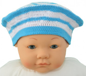 Crochet Cotton Baby Beret, Size 3-12 M., Colour