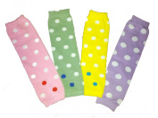 Baby Leg Warmers - Set of 4 - Easter Pastel Colours - Polka Dot - One Size