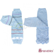 Wrapables Colourful Baby Leg Warmers (Set of 2) - Rainbow Skies