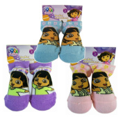 Nick Jr Dora the Explorer Baby Socks Set of 3 Pairs - Various Colours