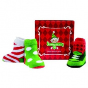 Elegant Baby Xmss Baby Boy Organic Socks - 3 Pk