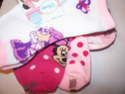 Disney Minnie Mouse 4 Pair Infant Socks ~ Minnie Watching Butterflies
