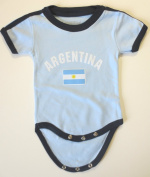 ARGENTINA BABY BODYSUIT 100%COTTON. SIZE FOR 12 MONTHS .NEW