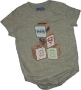 Justice League -- Baby Blocks Infant Onesie Snapsuit