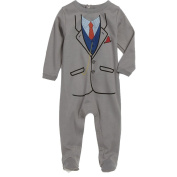 Sara Kety 1FTPG10 Grey Suit Footie 6mo