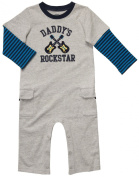 Carter's Infant Long Sleeve One Piece Coverall - Daddy's Rockstar-6 Months