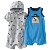 Just One You Made By Carter's Infant Boys 2pc Rompers Puppy Size Newborn