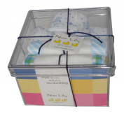 Noa Lily Small Layette Gift Basket, Blue Cow, 6 Months
