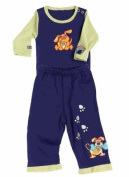 Sozo's Bow House Long Sleeve Pant Set- Blue