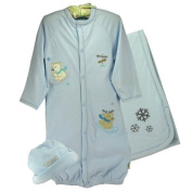 "Boys ""Polar Bear & Reindeer"" Hat, Gown & Blanket Set by Organically Grown"