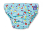 Bambino Mio Swim Nappy- Blue Fish-Medium