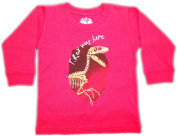 Wes & Willy Long Sleeve Sports Shirt - T.Rex Was here 18 Month