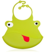 Ulubulu Silicone Bib, Duke the Frog